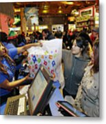 Shoppers Inside Toys R Us Inc. Stores Ahead Of Black Friday Sales Metal Print