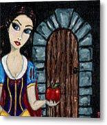 Snow White Considers The Apple Metal Print