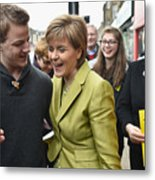 SNP Leader Nicola Sturgeon Unveils An Anti-Austerity Plan To Boost the NHS Metal Print