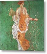 Spring, maiden gathering flowers, from the villa of Varano in Stabiae Metal Print