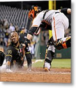Starling Marte and Buster Posey Metal Print