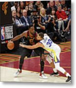 Stephen Curry and Jeff Green Metal Print