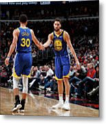 Stephen Curry and Klay Thompson Metal Print