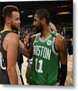 Stephen Curry and Kyrie Irving Metal Print