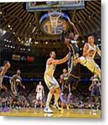 Stephen Curry and Roy Hibbert Metal Print