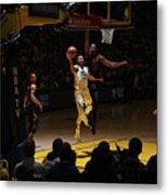 Stephen Curry and Tristan Thompson Metal Print