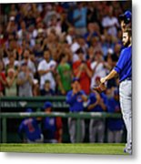 Stephen Drew and Jake Arrieta Metal Print