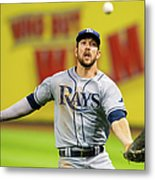 Steven Souza And Francisco Lindor Metal Print