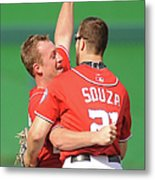 Steven Souza And Jordan Zimmermann Metal Print