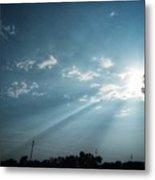 Striking rays Metal Print