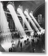 Sun Beams Into Grand Central Station Metal Print