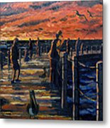 Sunrise At The Inlet Metal Print