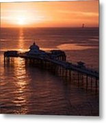 Sunrise over Llandudno pier 2 Metal Print