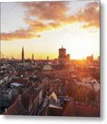 Sunset above Copenhagen Metal Print