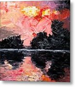 Sunset. After storm. Metal Print