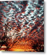Sunset Explosion Metal Print
