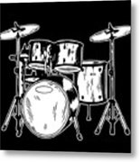 Tempo Music Band Percussion Drum Set Drummer Gift Metal Print