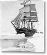 Terra Nova in Antarctic pack ice, 1910 Metal Print