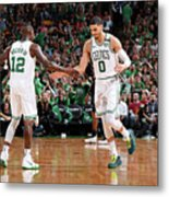 Terry Rozier and Jayson Tatum Metal Print