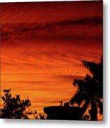 The Fire sky Metal Print