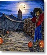 The Spooky Scarecrow Metal Print