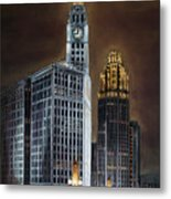 The Wrigley Building and Tribune Tower Metal Print