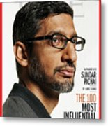 TIME 100 - Sundar Pichai Metal Print