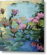 Times Between - water Lilies Metal Print