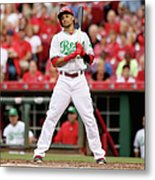 Todd Frazier and Billy Hamilton Metal Print