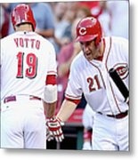 Todd Frazier And Joey Votto Metal Print