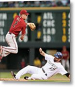 Todd Helton and Aaron Hill Metal Print