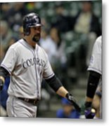 Todd Helton and Michael Cuddyer Metal Print