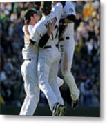 Todd Helton, Ian Stewart, and Troy Tulowitzki Metal Print