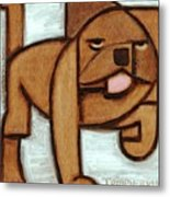 Tommervik Abstract Olde English Bulldog Art Print Metal Print