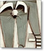 Tommervik Abstract Raccoon Wall Art Print Metal Print