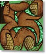 Tommervik Hawaiian Woman Pineapple Art Print Metal Print