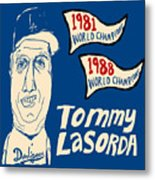 Tommy Lasorda Los Angeles Dodgers Metal Print