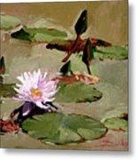Tomorrow's Blooms- Water Lilies Metal Print