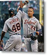 Torii Hunter and Miguel Cabrera Metal Print