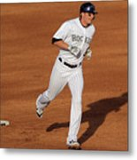 Troy Tulowitzki and Chad Billingsley Metal Print