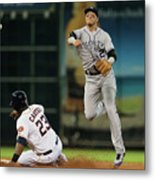 Troy Tulowitzki and Chris Carter Metal Print