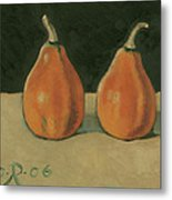 Two Orange Pumpkins Metal Print