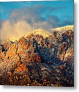 Unveiling Sandia Mountain and Crest Metal Print
