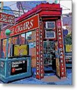 Village Cigar Shop Metal Print