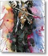 Violine player. Metal Print