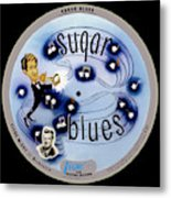 Vogue Record Art - R 707 - P 5, Blue Logo - Square Version Metal Print