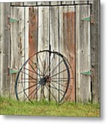 Wagon Wheel - Londonderry New Hampshire Metal Print
