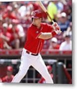 Washington Nationals v Cincinnati Reds Metal Print