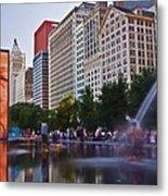 Water Fun in Chicago 1 Metal Print