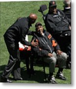 Willie Mays, Barry Bonds, and Willie Mccovey Metal Print